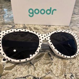 Goodr Polka Dot Black and White Sunglasses